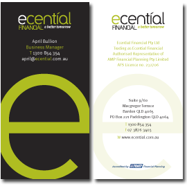 Ecential Financial Business Card